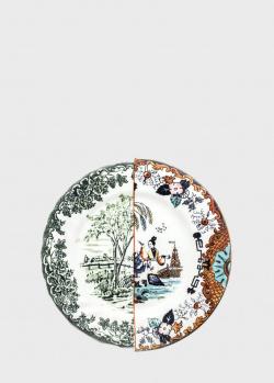 Тарелка обеденная Seletti Hybrid Ipazia 27,5см с рисунком, фото