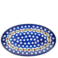 Блюдо Ceramika Artystyczna Волшебная синева овальное, фото
