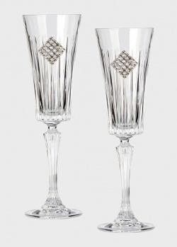 Набор Chinelli Timeless Rombo Regina для шампанского из 2 штук, фото