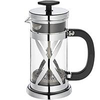 Френч-пресс Cilio Coffee and Tea для кофе и чая в серебристом цвете , фото