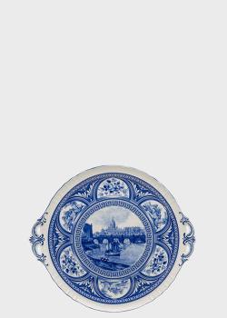 Блюдо с ручками Palais Royal 34см с изображением городского пейзажа, фото