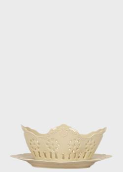Фруктовница Palais Royal Crema 22см со сквозным орнаментом, фото