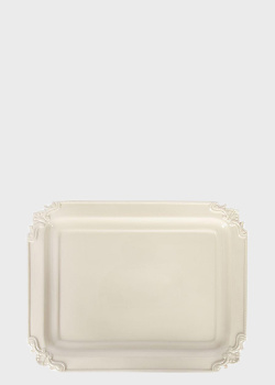 Блюдо Palais Royal Crema 37см с ажурным декором на углах, фото