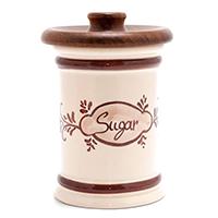 Керамическая сахарница Capanni с деревянной крышкой, фото