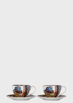 Набор кофейных чашек с блюдцами Palais Royal Santa Rosalia 4пр, фото