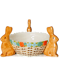 Салатник Palais Royal с керамическими кроликами, фото