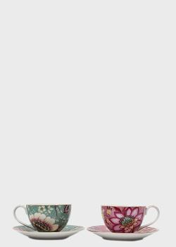 Набор кофейных чашек с блюдцами Palais Royal Fleurs 4пр, фото