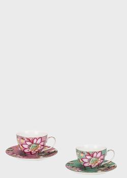 Набор из 2-х чашек с блюдцами Palais Royal Fleurs 9х9см, фото