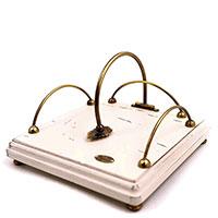 Салфетница Capanni белого цвета с фиксатором, фото
