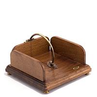 Деревянная салфетница Capanni Классика коричневого цвета с зажимом, фото