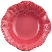 Набор из 6 глубоких тарелок Comtesse Milano Iris красного цвета, фото