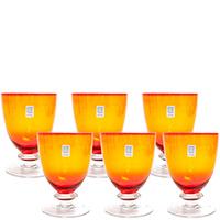 Набор бокалов для воды Comtesse Milano Tahiti оранжевого цвета, фото