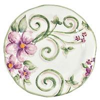 Тарелка десертная Bizzirri Samantha 22см из керамики, фото