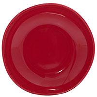 Тарелка для супа Comtesse Milano Ritmo из керамики красного цвета, фото