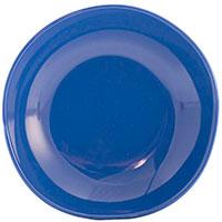 Синяя тарелка для супа Comtesse Milano Ritmo из керамики, фото