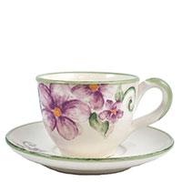 Чашка чайная с блюдцем Bizzirri Samantha, фото