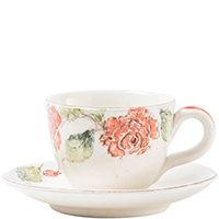 Чашка с блюдцем Bizzirri Розы, фото