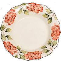 Тарелка глубокая Bizzirri Розы, фото