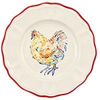 Набор тарелок для салата Villa Grazia Петушки на 6 персон, фото