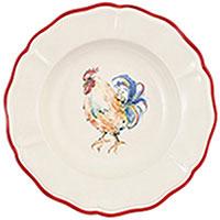 Набор тарелок для супа Villa Grazia Петушки на 6 персон, фото