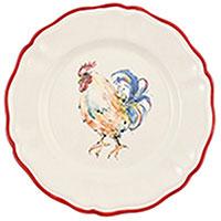 Тарелка обеденная Villa Grazia Петушки 28см, фото