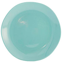 Обеденная тарелка Comtesse Milano Ritmo из керамики бирюзового цвета, фото