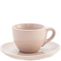Набор кофейных чашек с блюдцами Comtesse Milano Ritmo бежевого цвета, фото