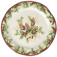 Тарелка десертная Bizzirri Символы Рождества, фото
