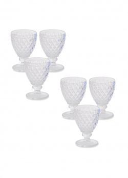Набор бокалов для вина Maison Toscana с рельефным рисунком 6шт, фото