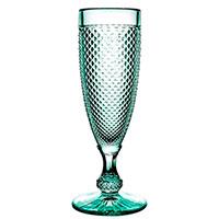 Бокал Vista Alegre Bicos 110мл для шампанского мятного цвета, фото