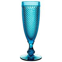 Бокал Vista Alegre Bicos 110мл для шампанского синего цвета, фото