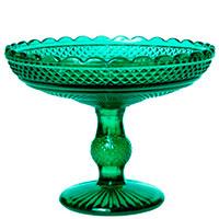 Фруктовница Vista Alegre Bicos 18,5x32,5см в зеленом цвете, фото