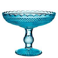 Фруктовница Vista Alegre Bicos 18,5x32,5см в синем цвете, фото