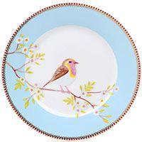 Тарелка Pip Studio Early Bird диаметром 21 см голубая, фото