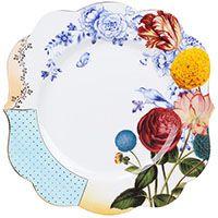 Большая тарелка Pip Studio Royal с разноцветным растительным принтом, фото