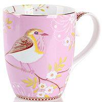 Кружка Pip Studio Early Bird с птичкой розовая 350 мл, фото