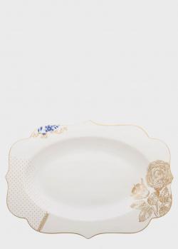 Овальное блюдо Pip Studio Royal White 40х28,5см, фото