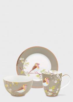 Набор посуды Pip Studio Early Bird Khaki 3 предмета, фото