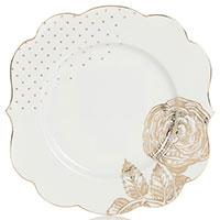 Тарелка Pip Studio Royal White с золотистым декором 17см, фото