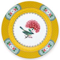 Желтая тарелка Pip Studio Blushing Birds 17см, фото