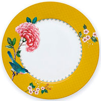 Желтая тарелка Pip Studio Blushing Birds 21см, фото