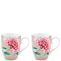 Набор из двух чашек Pip Studio Blushing Birds бежевого цвета, фото