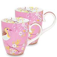 Набор чашек Pip Studio Early Bird розового цвета, фото
