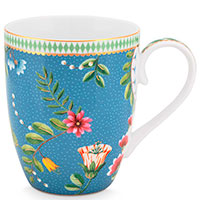 Синяя чашка Pip Studio La Majorelle с изображением цветов, фото
