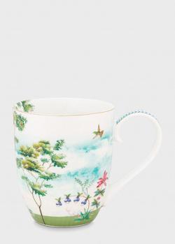 Фарфоровая чашка Pip Studio XL Jolie Heron 450мл, фото