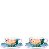 Набор из двух чашек Pip Studio Royal Flowers с блюдцами, фото