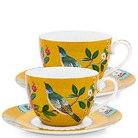 Набор чашек с блюдцами Pip Studio Blushing Birds на 2 персоны, фото