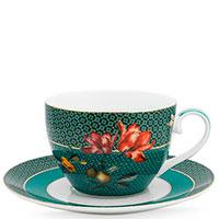 Чашка с блюдцем Pip Studio Winter Wonderland Bird Green, фото