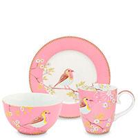 Набор посуды Pip Studio Early Bird розового цвета на 1 персону, фото