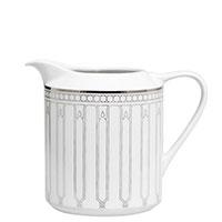 Молочник Porcel Allergo с орнаментом серебристого цвета, фото